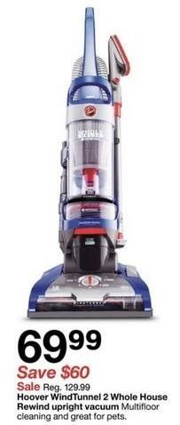 Target Black Friday: Hoover WindTunnel 2 Whole House Rewind Upright Vacuum for $69.99
