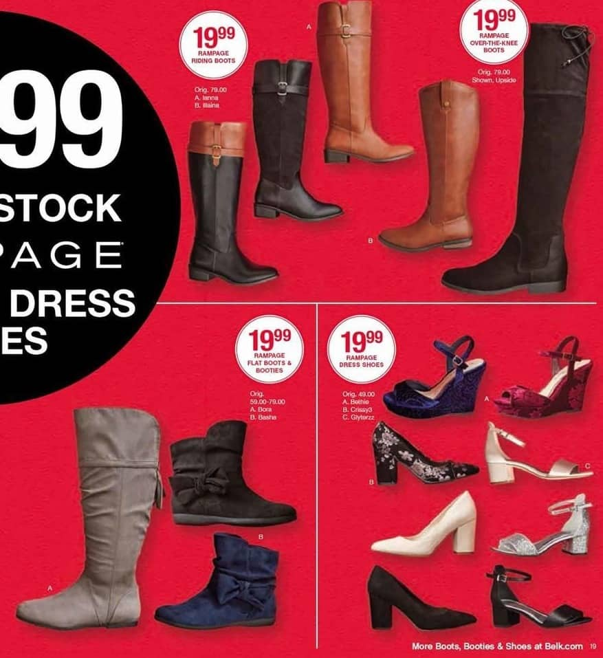 Belk Black Friday Entire Stock Rampage Boots And Dress Shoes For
