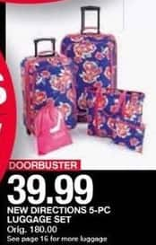 Belk Black Friday: New Directions 5-pc Luggage Set for $39.99