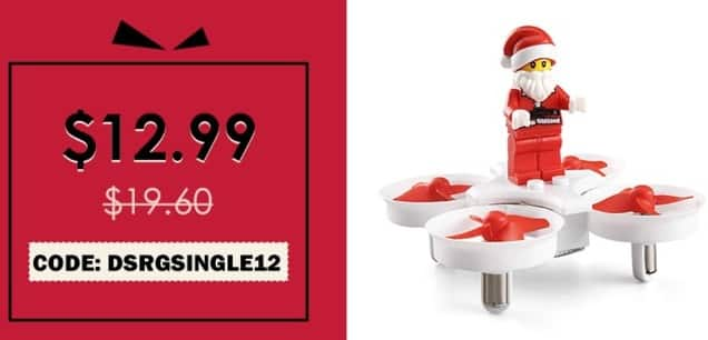 Rosegal Black Friday: JJRC H67 Flying Santa Claus RC Drone RTF Headless Mode / One Key Return / Plug-in Block Model for $12.99