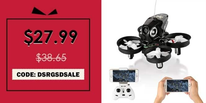 Rosegal Black Friday: FuriBee H801 2.4GHz 4CH 6 Axis Gyro WiFi FPV Remote Control Quadcopter for $27.99