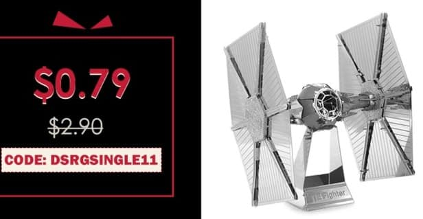 Rosegal Black Friday: Tie Fighter Metallic Building Puzzle Educational DIY Assembling Toy for $0.79