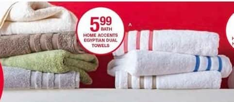 Belk Black Friday: Home Accents Egyptian Dual Towels for $3.99 - $5.99