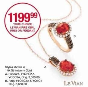 Belk Black Friday: Le Vian Fire Opal Ring or Pendant for $1,199.99