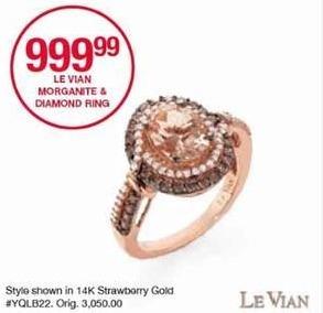 Belk Black Friday: Le Vian Morganite & Diamond Ring for $999.99
