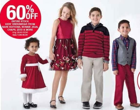 Belk Black Friday: Entire Stock Kids' Dresswear from IZOD, Chaps, Rare Editions, Bonnie Jean and More - 60% Off