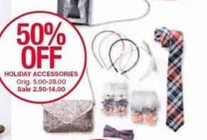 Belk Black Friday: Holiday Accessories, Select Styles - 50% Off