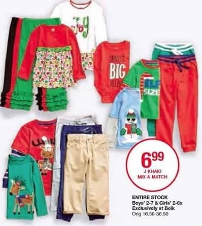 Belk Black Friday: Entire Stock J Khaki Boys' or Girls' Mix and Match Apparel for $6.99