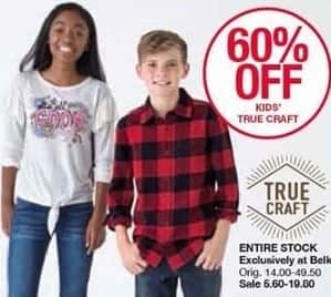 Belk Black Friday: True Craft Kids Apparel - 60% Off