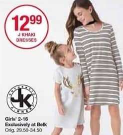 Belk Black Friday: J Khaki Girls' Dresses for $12.99