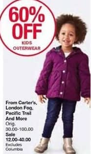 Belk Black Friday: Kids' Outerwear from Carters', London Fog, Pacific Trail and More, Select Styles - 60% Off