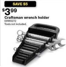 Sears Black Friday: Craftsman Wrench Holder for $3.99