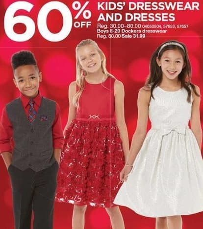 Sears Black Friday: Kids' Dresswear and Dresses - 60% Off