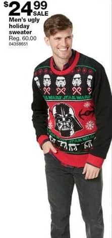 Sears Black Friday: Men's Ugly Holiday Sweater, Select Styles for $24.99