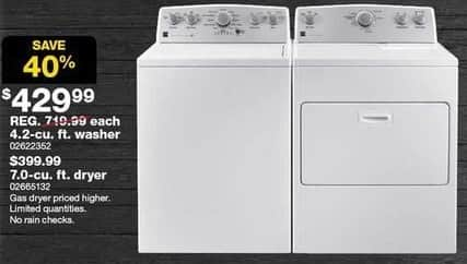 Sears Black Friday: Kenmore 7.0 cu ft Electric Dryer (65132) for $399.99
