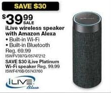Sears Black Friday: iLive Wireless Bluetooth Speaker with Amazon Alexa for $39.99