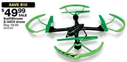 Sears Black Friday: SwiftStream Z-34CV Drone for $49.99