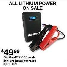 Sears Black Friday: DieHard 8,000 mAh Lithium Jump Starters for $49.99