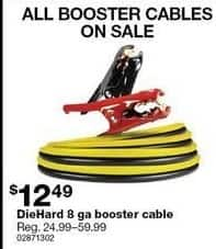 Sears Black Friday: DieHard 8 ga Booster Cable for $12.49