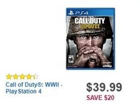 Best Buy Black Friday: Call of Duty: WWII - PlayStation 4 for $39.99