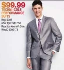 Macy's Black Friday: Kenneth Cole Reaction Performance Suits for $99.99