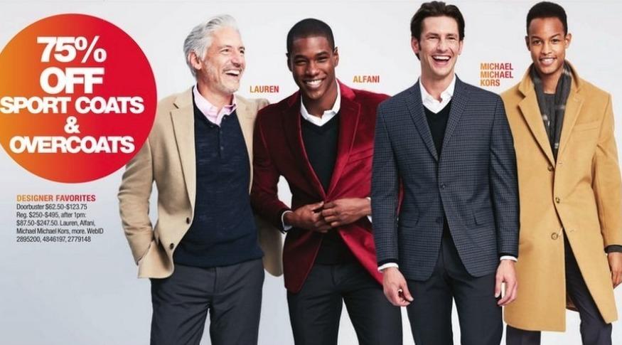 Macy's Black Friday: Sport Coats and Overcoats from Lauren, Alfani, Michael Kors and More - 75% Off
