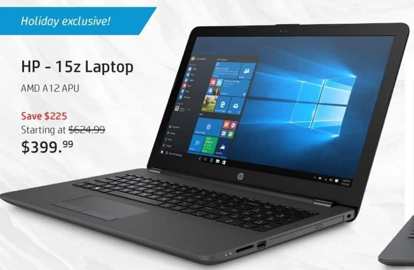 HP Black Friday: HP 15z Laptop: AMD Quad-Core A12 APU, 8GB RAM, 1TB HDD, 15.6', Win 10 Home for $399.99