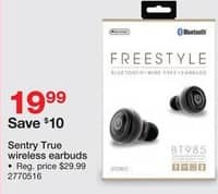 Staples Black Friday: Sentry True Wireless Earbuds for $19.99