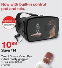 Staples Black Friday: Tzumi Dream Vision Pro Virtual Reality Goggles for $10.99
