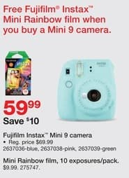 Staples Black Friday: Fujifilm Instax Mini 9 Camera for $59.99