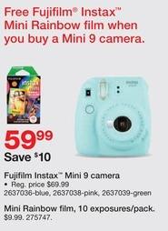 Staples Black Friday: 10-Pack Fujifilm Mini Rainbow Film for $9.99