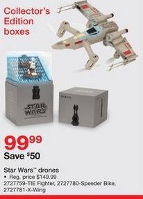 Staples Black Friday: Select Star Wars Drones: TIE Fighter, Speeder Bike and More for $99.99
