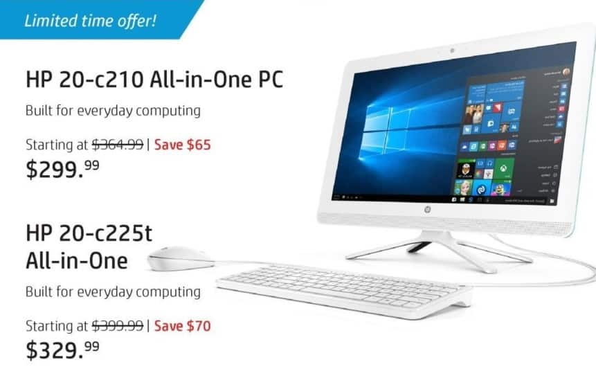 HP Black Friday: HP Envy 20-c210 All-In-One PC for $299.99