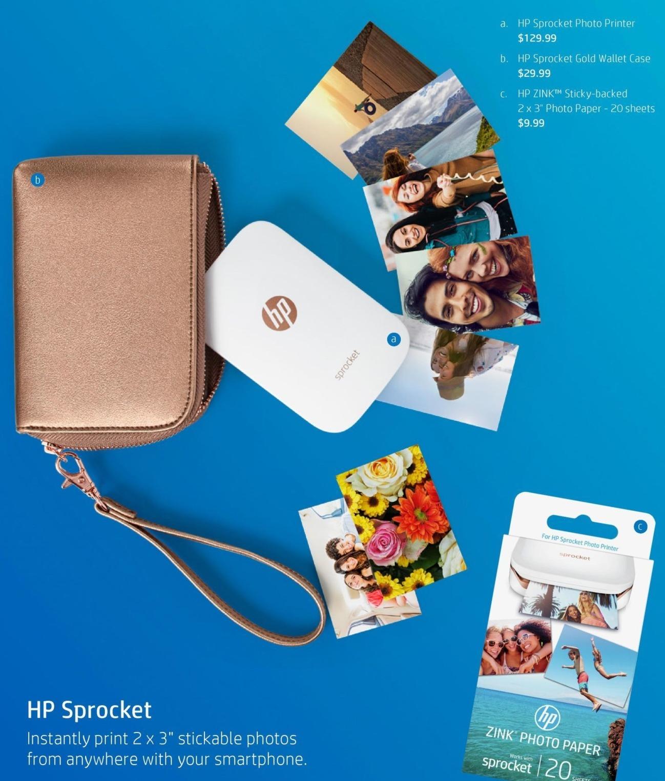 HP Black Friday: HP Sprocket Photo Printer for $129.99