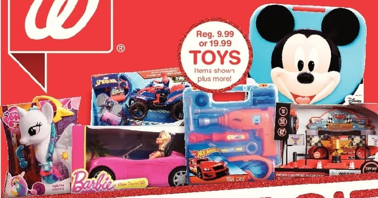 Walgreens Black Friday: Select Toys Including Barbie, Mickey Mouse and More, w/Card for $9.99