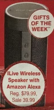 Walgreens Black Friday: iLove Wireless Speaker with Amazon Alexa for $39.99