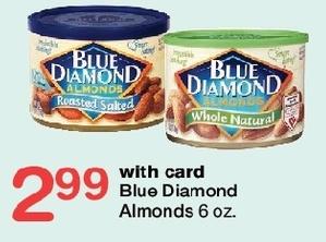 Walgreens Black Friday: Blue Diamond Almonds, Select 6oz Varieties, w/Card for $2.99