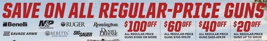 Field & Stream Black Friday: All Regular Price Guns - $20 - $100 Off