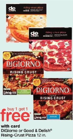Walgreens Black Friday: DiGiorno or Good & Delish Rising Pizza Crust 12-in, w/Card - B1G1 Free