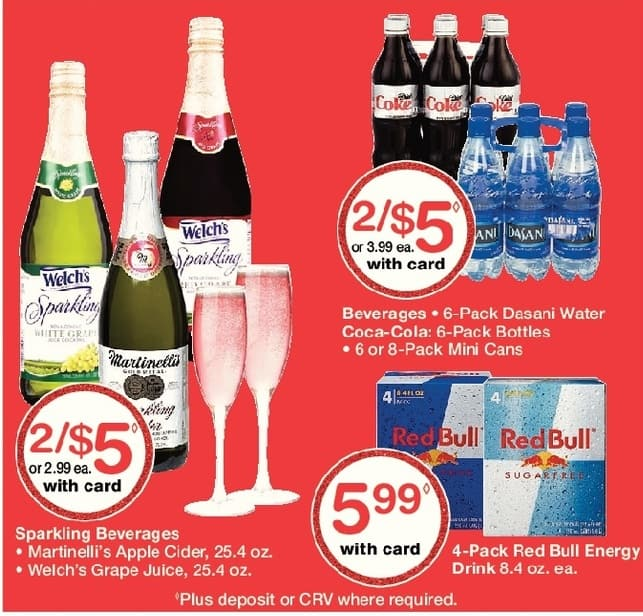 Walgreens Black Friday: (2) Dasani Water 6pk, Coca-Coila 6pk Bottles, 6 or 8pk Mini Cans, w/Card for $5.00