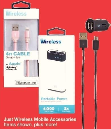Walgreens Black Friday: Just Wireless Mobile Accessories w/Card - 50% Off