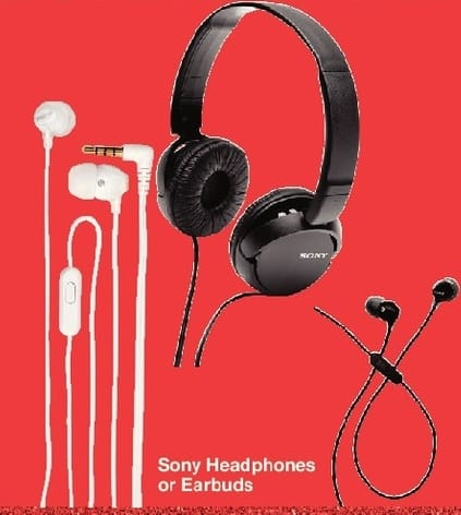 Walgreens Black Friday: Sony Headphones or Earbuds w/Card - 50% Off