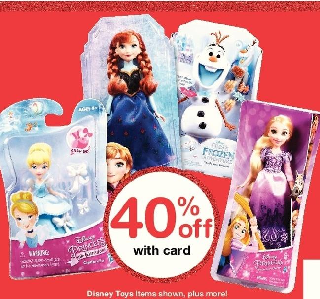 Walgreens Black Friday: Disney Toys, Select Items, w/Card - 40% Off