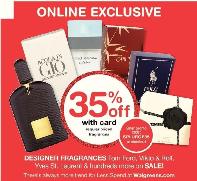 Walgreens Black Friday: Designer Fragrances from Yves St.Laurent, Tom Ford, Viktor & Rolf and More, w/Card - 35% Off