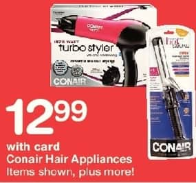 Walgreens Black Friday: Conair Hair Appliances, Select Varieties, w/Card for $12.99