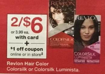 Walgreens Black Friday: (2) Revlon Hair Color: Colorsilk ok Colorsilk Luminista, w/Card for $6.00