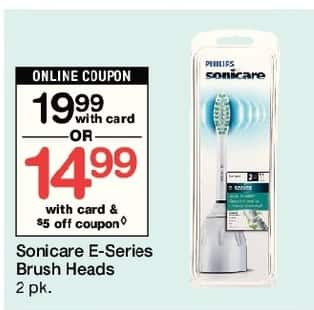Walgreens Black Friday: Sonicare E Series Brush Heads, w/Card and Coupon for $14.99