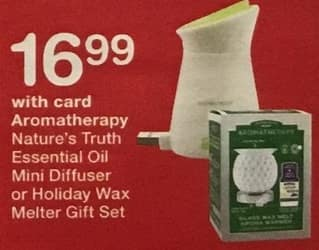 Walgreens Black Friday: Nature's Truth Essential Oil Mini Diffuser or Holiday Wax Melter Gift Set, w/Card for $16.99