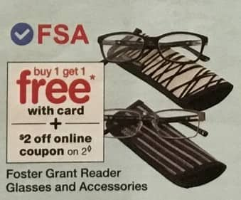 Walgreens Black Friday: Foster Grant Reader Glasses and Accessories, w/Cardb - B1G1 Free