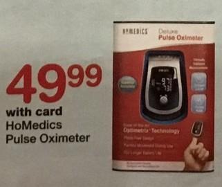 Walgreens Black Friday: HoMedics Pulse Oximeter, w/Card for $49.99